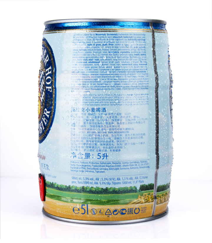 德国德拉克小麦啤酒5L 瓶
