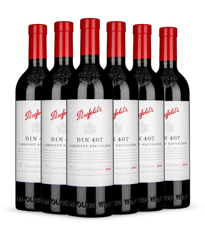 14.5°澳洲奔富407嘉本纳沙威浓红葡萄酒(木塞)750ml 件