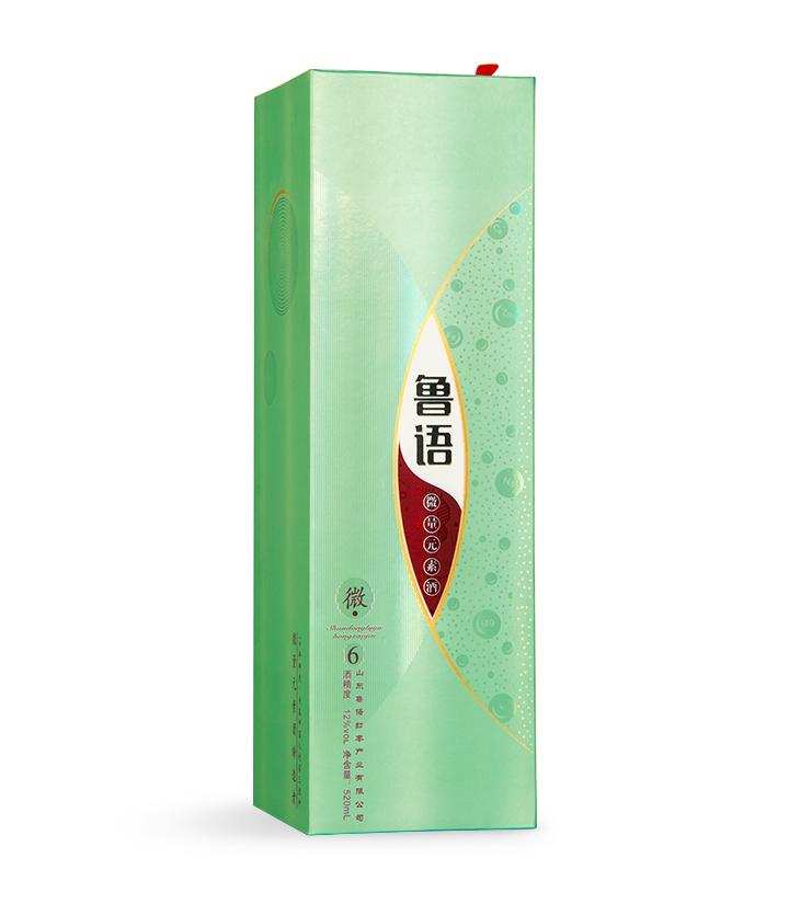 12°鲁语微量元素酒6 520ml 瓶