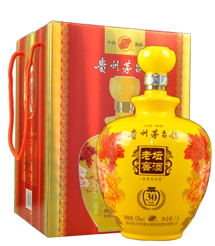 52°茅台镇老坛窖酒30典藏1500ml