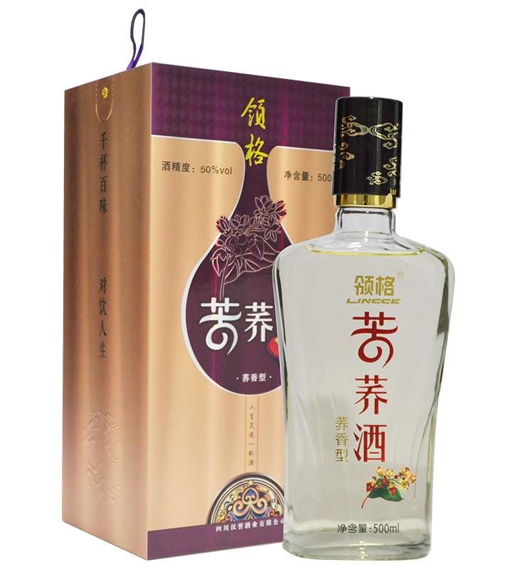 50°领格苦荞酒(盒装)500ml
