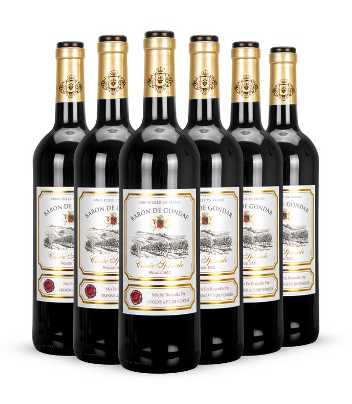 13°法国贡德尔男爵特酿干红葡萄酒750ml 瓶