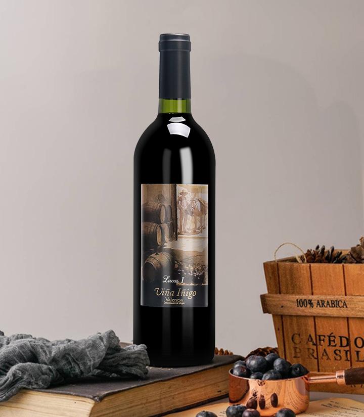 12°西班牙宜兰树卢卡斯一世干红葡萄酒750ml
