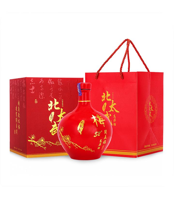52°台湾北太武高粱酒(梅开五福)600ml 瓶