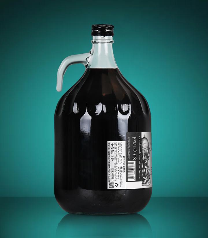 12°意大利戴甄干红葡萄酒3L 瓶