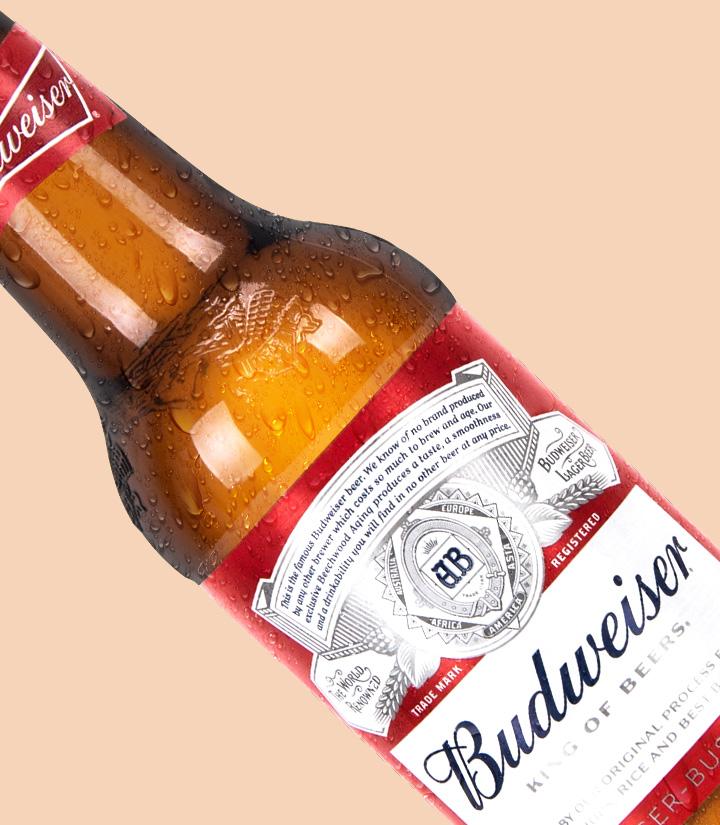 百威啤酒(红标玻璃瓶)300ml 瓶