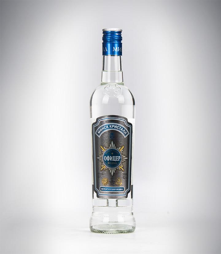 白俄罗斯明斯克水晶军官伏特加500ml 件
