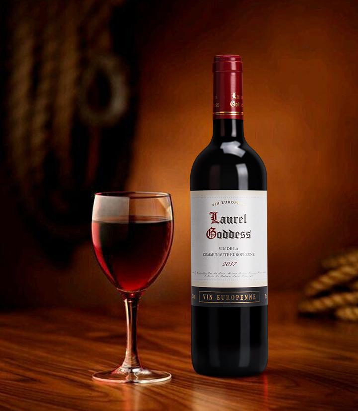 13°法国月桂女神干红葡萄酒750ml 瓶