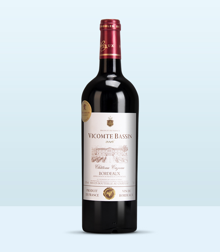 13.5°法国巴善子爵酒庄干红葡萄酒750ml 件