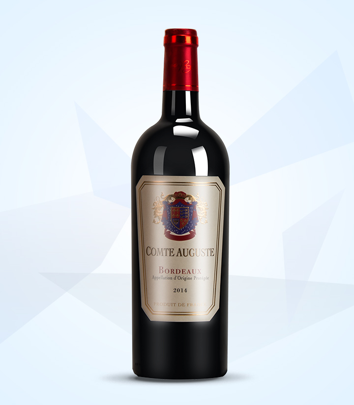 13°法国奥古斯丁伯爵干红葡萄酒750ml 件