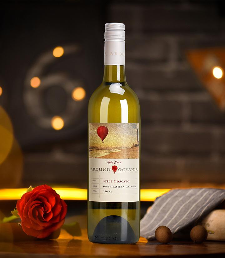 8°澳洲环澳莫斯卡托甜白葡萄酒750ml 件