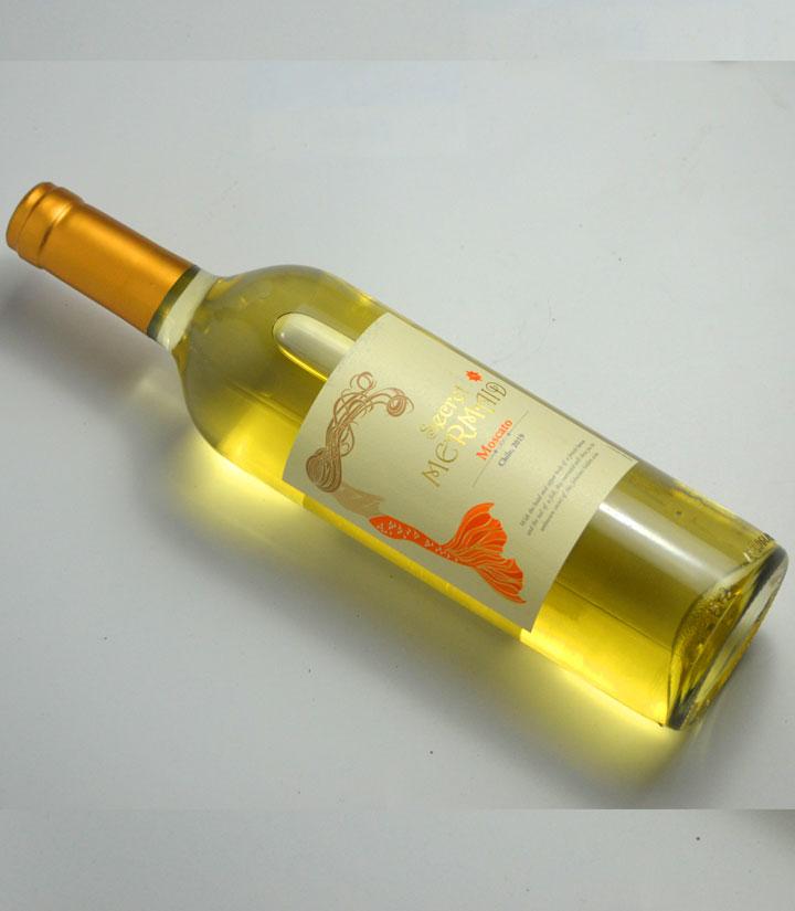12°智利美人鱼莫斯卡托甜白葡萄酒750ml