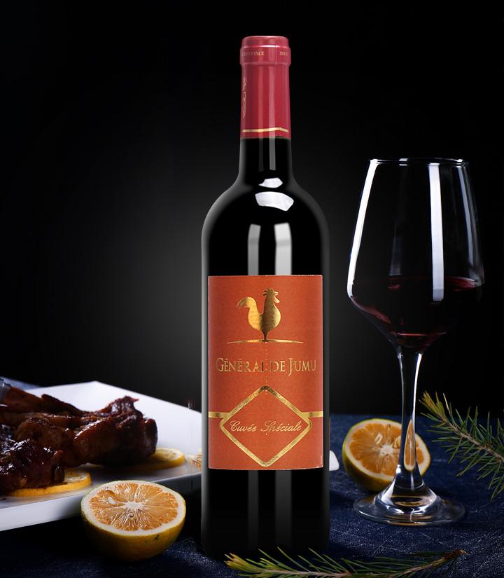 13°法国聚慕上将特酿干红葡萄酒750ml 瓶
