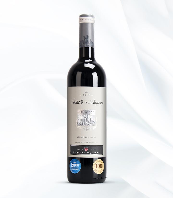 14°西班牙阿曼萨城堡陈酿干红葡萄酒750ml 瓶