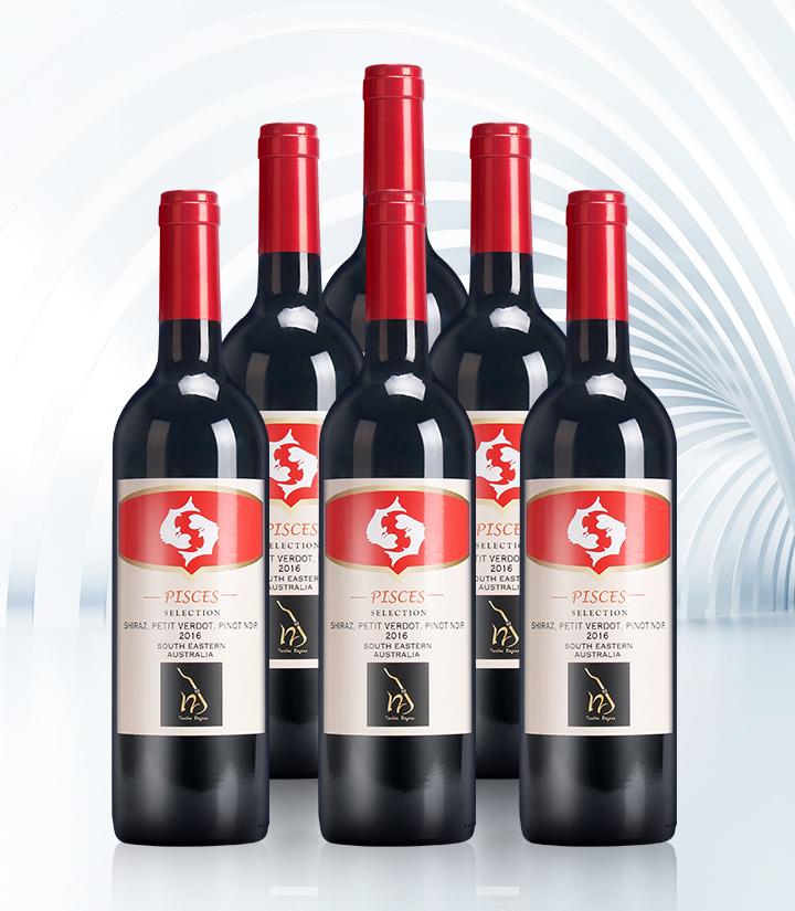 14°澳洲十二星座之双鱼座干红葡萄酒750ml 瓶
