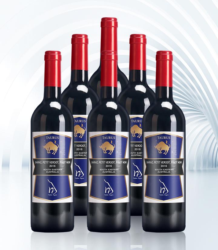 14°澳洲十二星座之金牛座干红葡萄酒750ml 件