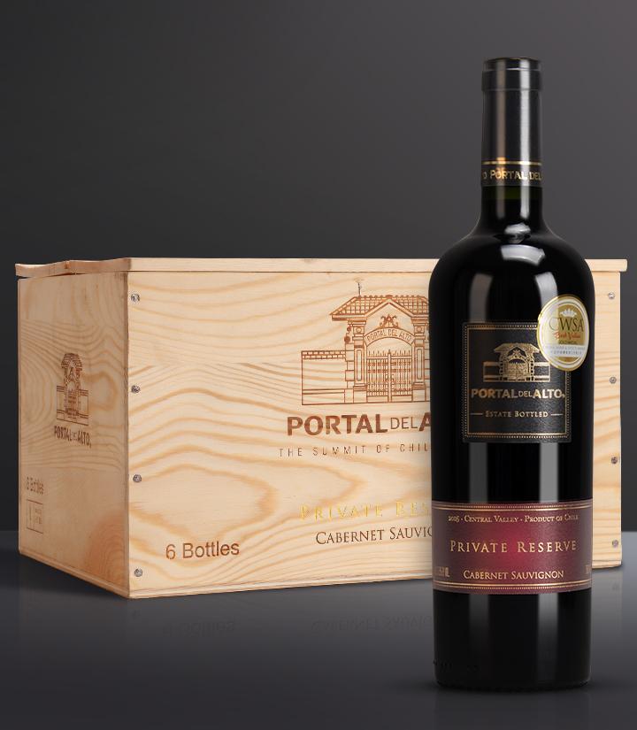 13.5°智利泊拉图私家珍藏赤霞珠干红葡萄酒750ml 件