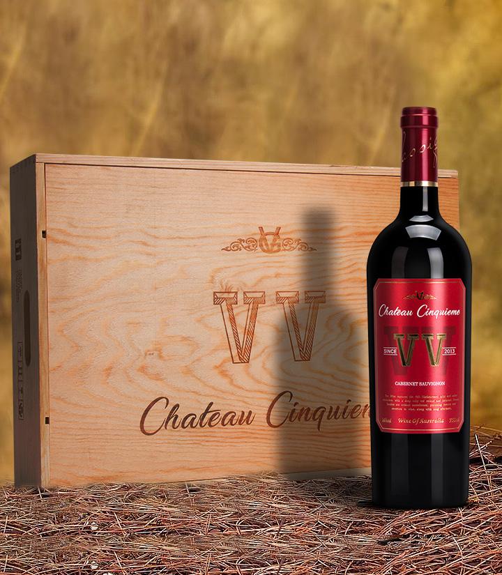 14°澳洲第五庄园赤霞珠干红葡萄酒750ml 瓶