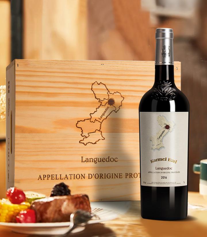 14°法国卡梅尔伯爵干红葡萄酒750ml 件