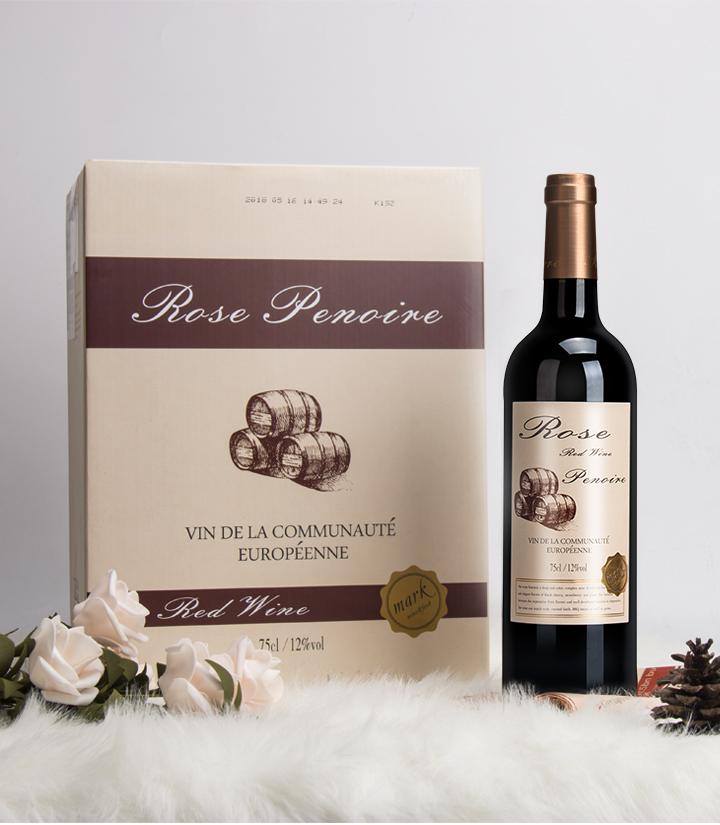 12°法国红皮诺典藏干红葡萄酒750ml 瓶