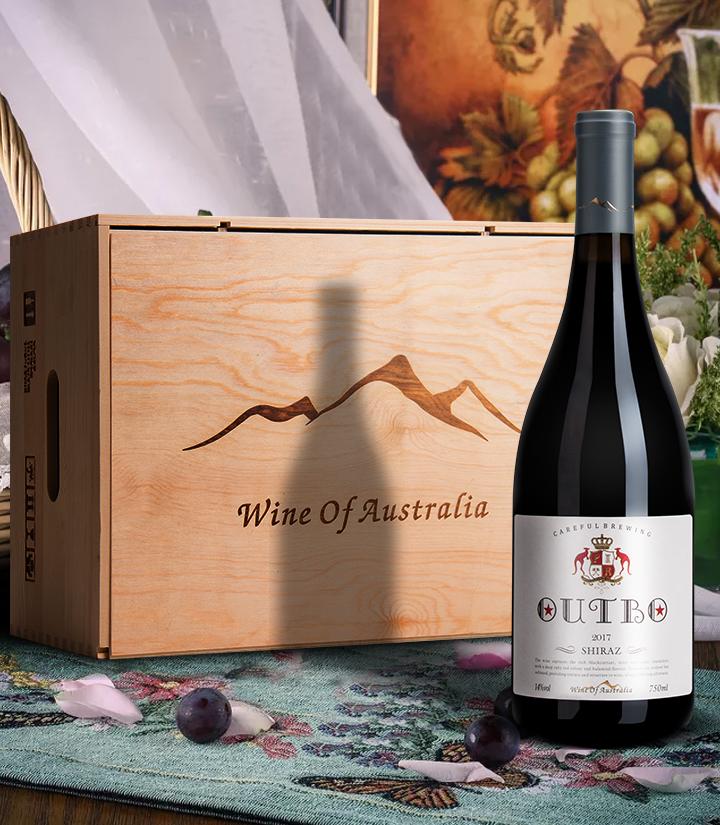 14°澳洲奥德伯西拉干红葡萄酒750ml 瓶