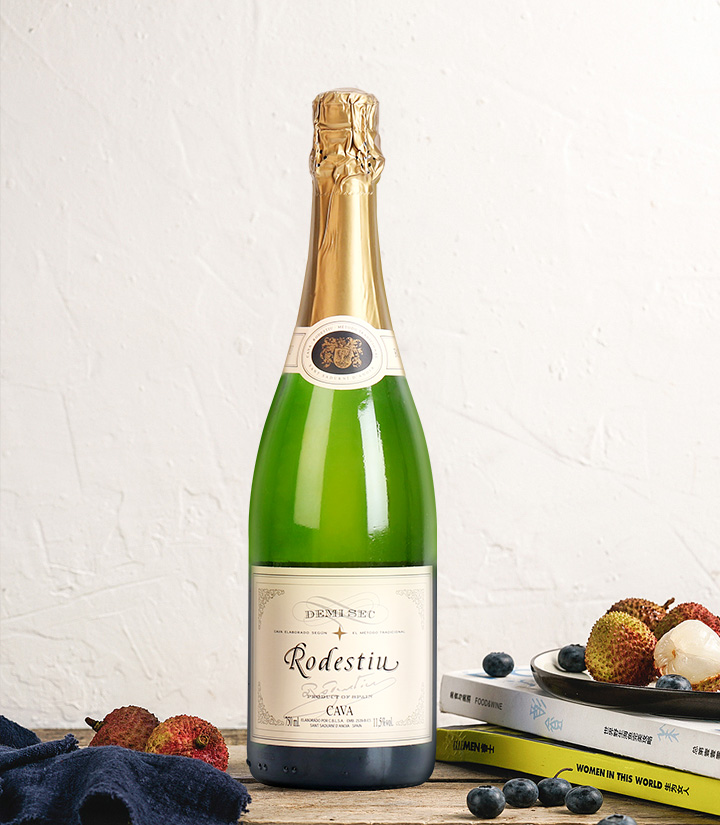 11.5°西班牙罗黛丝卡瓦半干起泡葡萄酒750ml 件