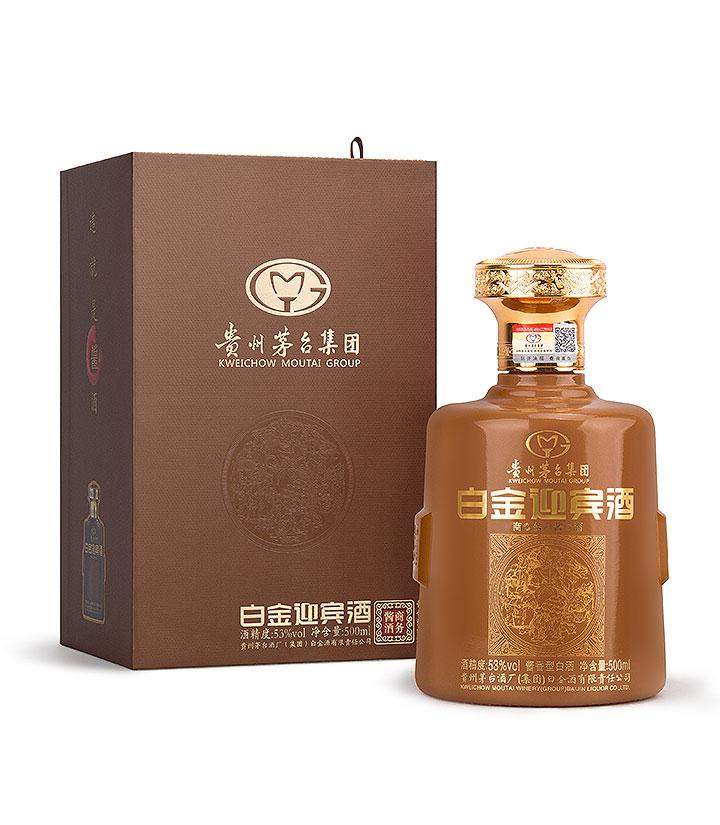 53°茅台白金迎宾酒商务酱酒(黄)500ml