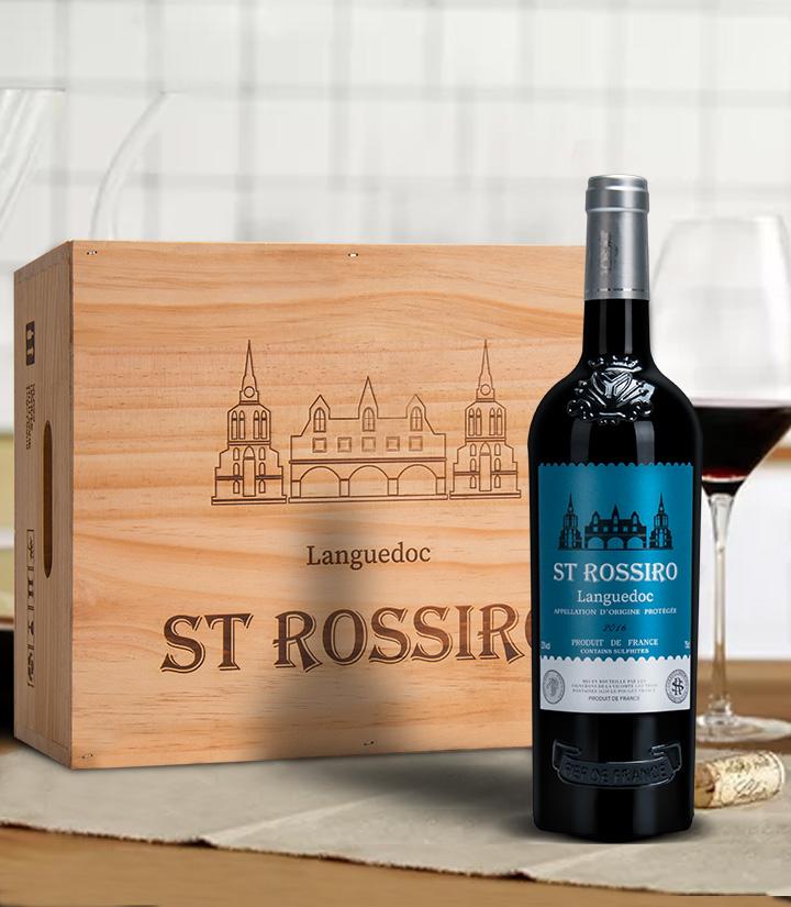 13°法国圣罗西罗珍藏干红葡萄酒750ml 件