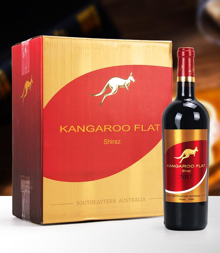 14°澳洲袋鼠家园西拉干红葡萄酒750ml 件